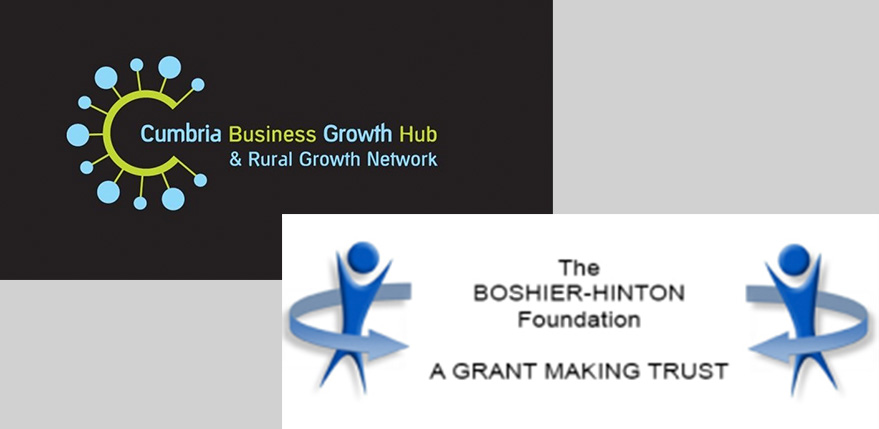 Cumbria Business Growth Hub and Boshier Hinton logos