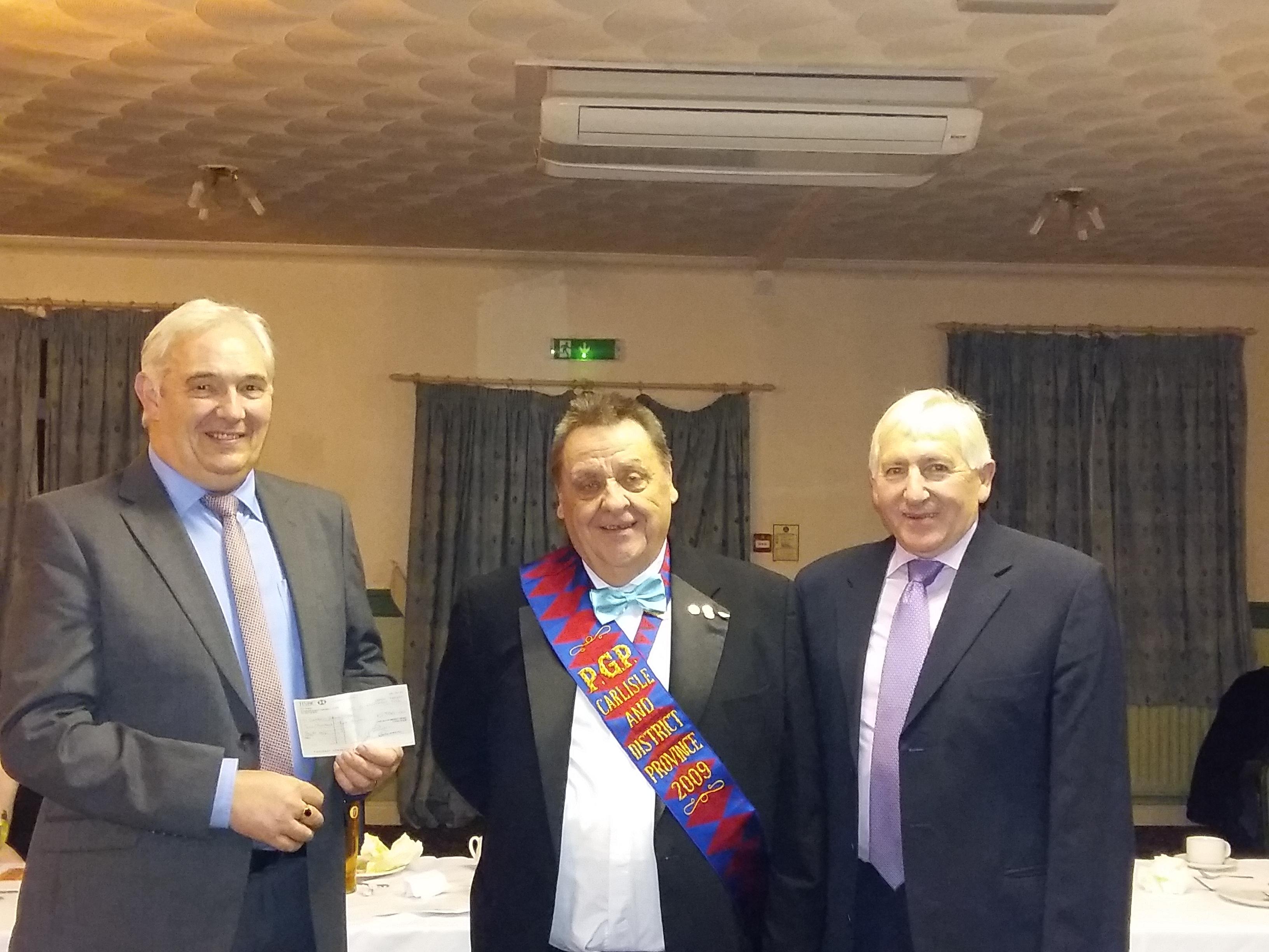 RAOB presenting cheque to Cumbria Deaf