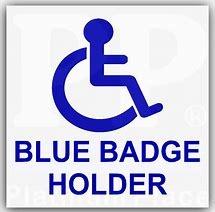 Blue Badge Holder parking sign