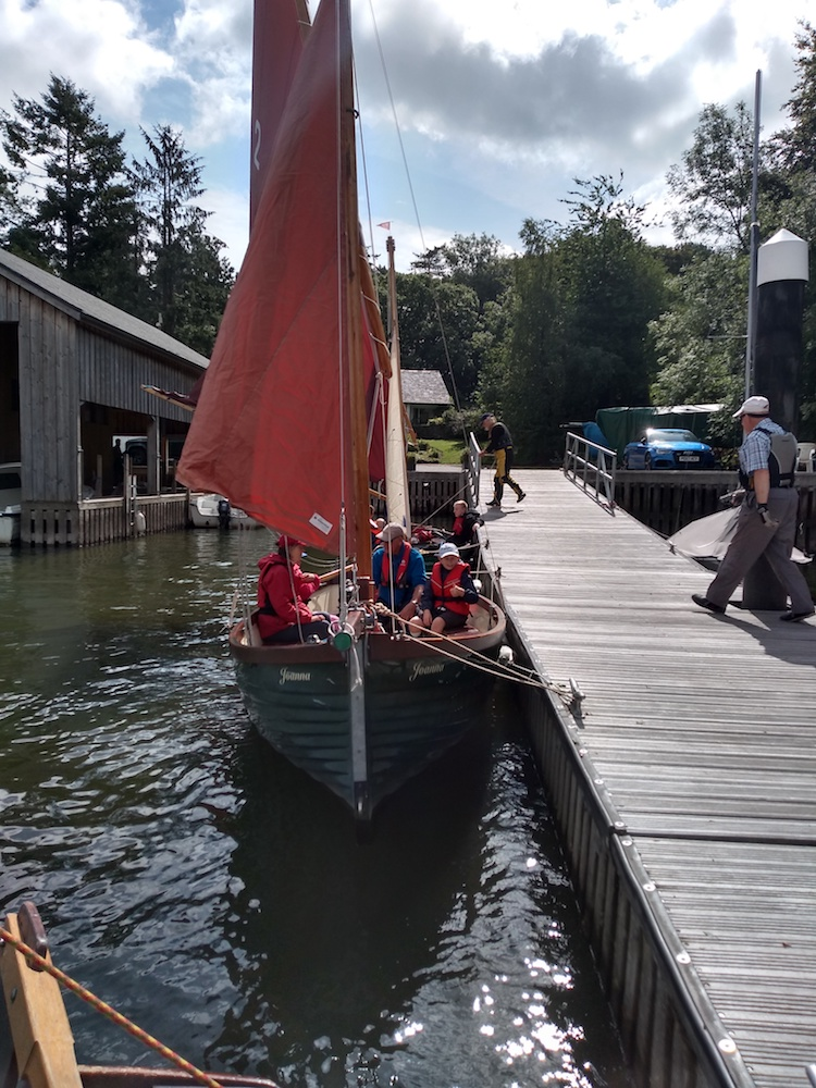 Sailing boat in windermere port - Cumbria Deaf Association