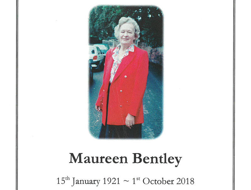 Maureen Bentley funeral photo