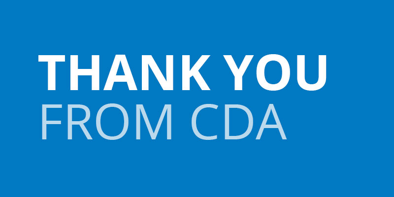 Thank you from CDA